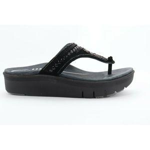 Abeo Mystic Wedges Sandals Black Size 7 ( EBP)3926
